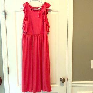 Pink GAP mindi dress.